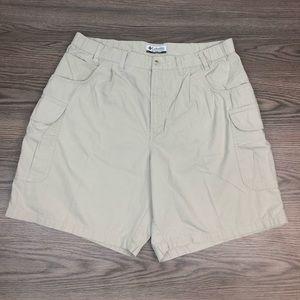 Columbia Tan Cargo Shorts Size 38